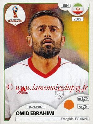 2018 - Panini FIFA World Cup Russia Stickers - N° 182 - Omid EBRAHIMI (Iran)