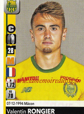2018-19 - Panini Ligue 1 Stickers - N° 291 - Valentin RONGIER (Nantes)