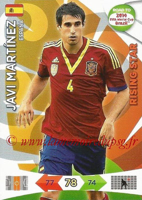 2014 - Panini Road to FIFA World Cup Brazil Adrenalyn XL - N° 079 - Javi MARTINEZ (Espagne) (Rising Star)
