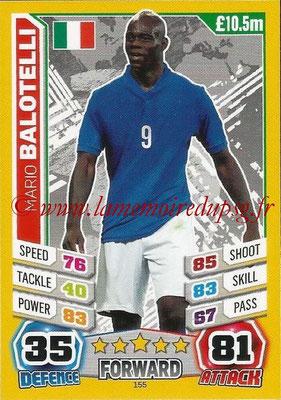 Topps Match Attax England 2014 - N° 155 - Mario BALOTELLI (Italie)