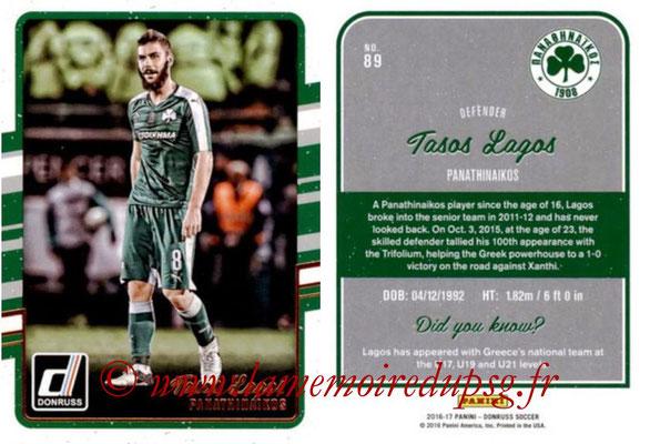 2016 - Panini Donruss Cards - N° 089 - Tasos LAGOS (Panathinaikos)