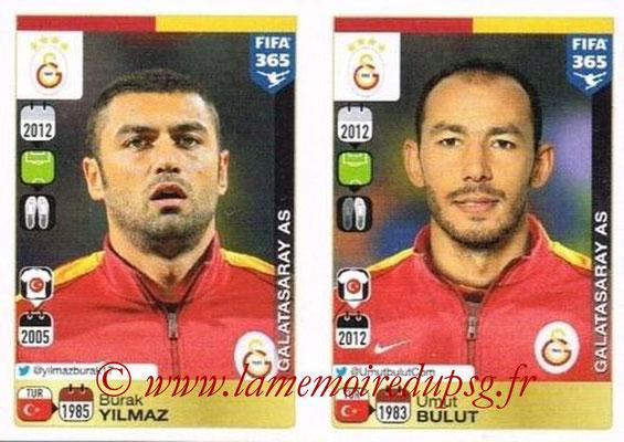 2015-16 - Panini FIFA 365 Stickers - N° 789-790 - Burak YILMAZ + Umut BULUT (Galatasaray AS)