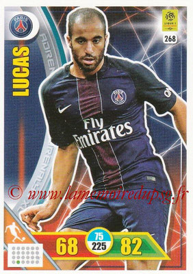 2017-18 - Panini Adrenalyn XL Ligue 1 - N° 268 - LUCAS (Paris Saint-Germain)
