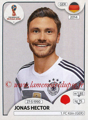 2018 - Panini FIFA World Cup Russia Stickers - N° 439 - Jonas HECTOR (Allemagne)