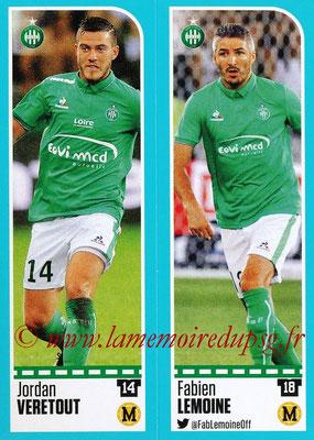 2016-17 - Panini Ligue 1 Stickers - N° 772 + 773 - Jordan VERETOUT + Fabien LEMOINE (Saint-Etienne)