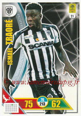 2017-18 - Panini Adrenalyn XL Ligue 1 - N° 021 - Ismaël TRAORE (Angers)