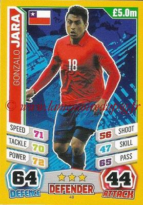 Topps Match Attax England 2014 - N° 049 - Gonzalo JARA (Chili)