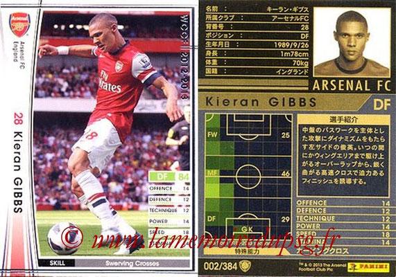 2012-13 - WCCF - N° 002 - Kieran GIBBS (Arsenal FC)