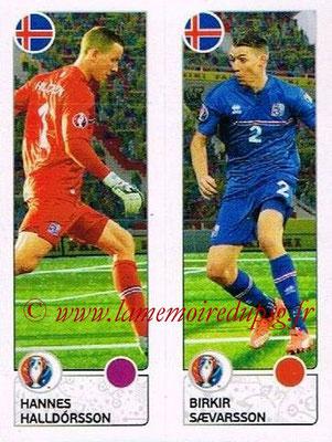 Panini Euro 2016 Stickers - N° 604 - Hannes HALLDORSSON + Birkir SAEVARSSON (Islande)