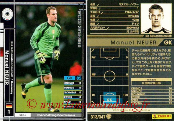 2015-16 - Panini WCCF - N° 313 - Manuel NEUER (Allemagne)