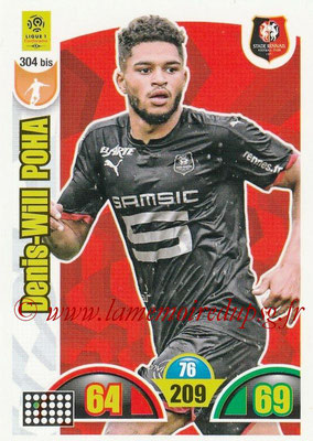 2018-19 - Panini Adrenalyn XL Ligue 1 - N° 304 bis - Denis-Will POHA (Rennes)