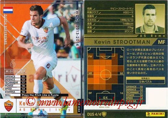 2013-14 - WCCF - N° DUS4 - Kevin STROOTMAN (AS Roma) (Dutch Superstars)