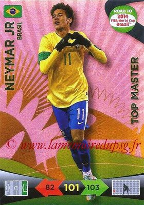 2014 - Panini Road to FIFA World Cup Brazil Adrenalyn XL - N° 232 - NEYMAR JR (Brésil) (Top Master)