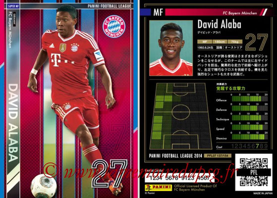 Panini Football League 2014 - PFL07 - N° 137 - David ALABA (Bayern Munich) (Super MF)