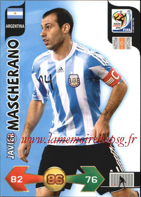 2010 - Panini FIFA World Cup South Africa Adrenalyn XL - N° 012 - Javier MASCHERANO (Argentine)