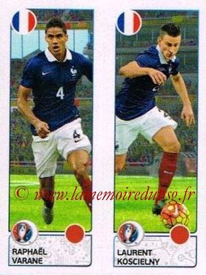 Panini Euro 2016 Stickers - N° 039 - Raphael VARANE + Laurent KOSCIELNY (France)