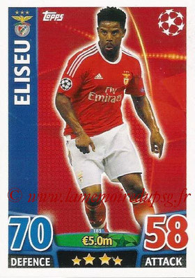 2015-16 - Topps UEFA Champions League Match Attax - N° 183 - ELISEU (SL Benfica)