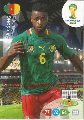 2014 - Panini FIFA World Cup Brazil Adrenalyn XL - N° 064 - Alex SONG (Cameroun)