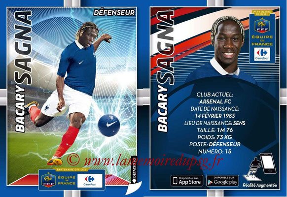 WC 2014 Collection Carrefour 3D Bleus - N° 09 - Bacary SAGNA (Arsenal FC)