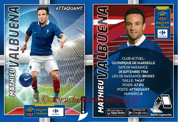WC 2014 Collection Carrefour 3D Bleus - N° 23 - Mathieu VALBUENA (Olympique de Marseille)