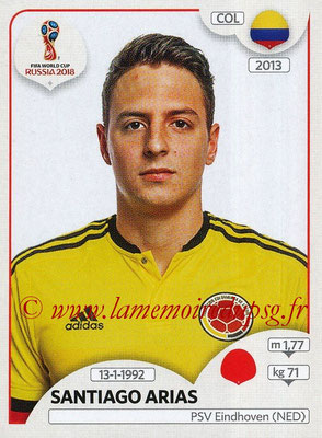 2018 - Panini FIFA World Cup Russia Stickers - N° 636 - Santiago ARIAS (Colombie)