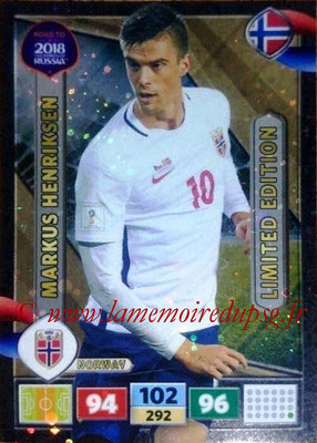 2018 - Panini Road to FIFA World Cup Russia Adrenalyn XL - N° LE-MH - Markus HENRIKSEN (Norvège) (Limited Edition)