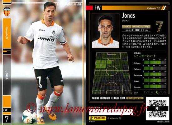 Panini Football League 2014 - PFL06 - N° 049 - JONAS (FC Valence)
