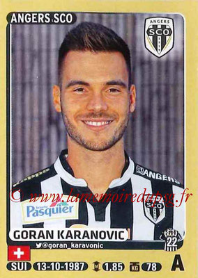 2015-16 - Panini Ligue 1 Stickers - N° 046 - Goran KARANOVIC (SCO Angers)