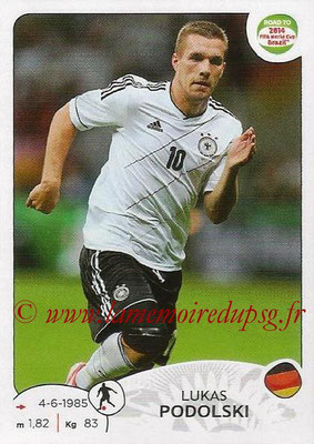 2014 - Panini Road to FIFA World Cup Brazil Stickers - N° 050 - Lukas PODOLSKI (Allemagne)
