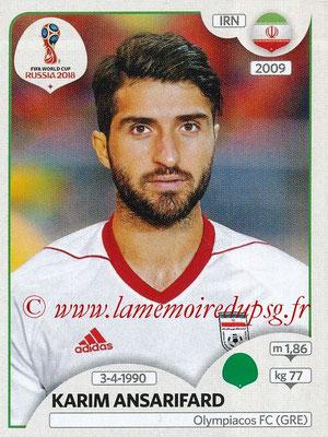 2018 - Panini FIFA World Cup Russia Stickers - N° 189 - Karim ANSARIFARD (Iran)