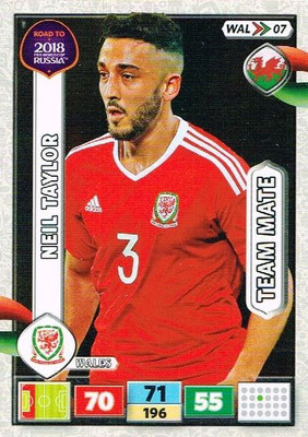 2018 - Panini Road to FIFA World Cup Russia Adrenalyn XL - N° WAL07 - Neil TAYLOR (Pays de Galles)