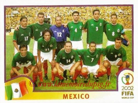 2002 - Panini FIFA World Cup Stickers - N° 493 - Equipe Mexique