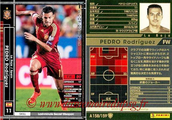 2015-16 - Panini WCCF - N° A158 - PEDRO Rodriguez (Espagne)