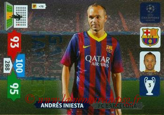 2013-14 - Adrenalyn XL champions League N° 335 - Andres INIESTA (FC Barcelone) (Game Changer)