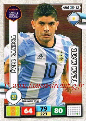 2018 - Panini Road to FIFA World Cup Russia Adrenalyn XL - N° ARG12 - Ever BANEGA (Argentine)