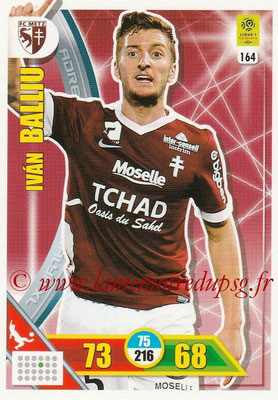2017-18 - Panini Adrenalyn XL Ligue 1 - N° 164 - Ivan BALLIU (Metz)