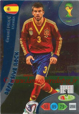 2014 - Panini FIFA World Cup Brazil Adrenalyn XL - N° 370 - Gerard PIQUE (Espagne) (Defensive Rock)