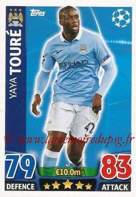 2015-16 - Topps UEFA Champions League Match Attax - N° 047 - Yaya TOURÉ (Manchester City FC)