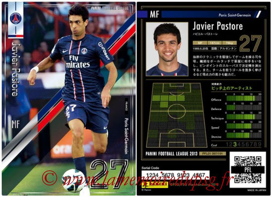 Panini Football League 2013 - PFL01 - N° 097 - Javier Pastore ( Paris Saint-Germain )