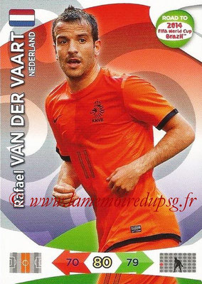 2014 - Panini Road to FIFA World Cup Brazil Adrenalyn XL - N° 134 - Rafael VAN DER VAART (Pays-Bas)