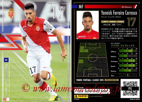 Panini Football League 2015 - PFL10 - N° 061 - Yannick FERREIRA CARASCO (AS Monaco) (Star)