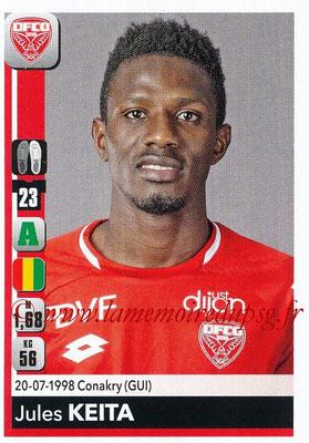 2018-19 - Panini Ligue 1 Stickers - N° 119 - Jules KEITA (Dijon)