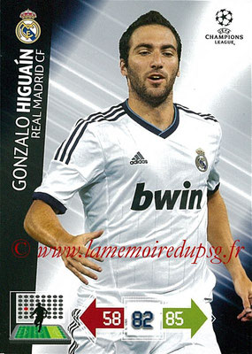 2012-13 - Adrenalyn XL champions League N° 234 - Gonzalo HIGUAIN (Real Madrid CF)