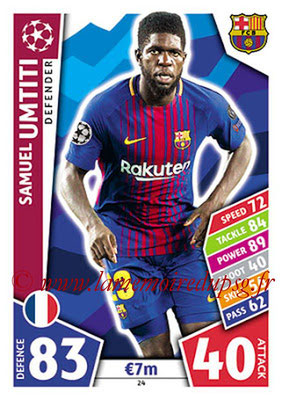 2017-18 - Topps UEFA Champions League Match Attax - N° 024 - Samuel UMTITI (FC Barcelone)