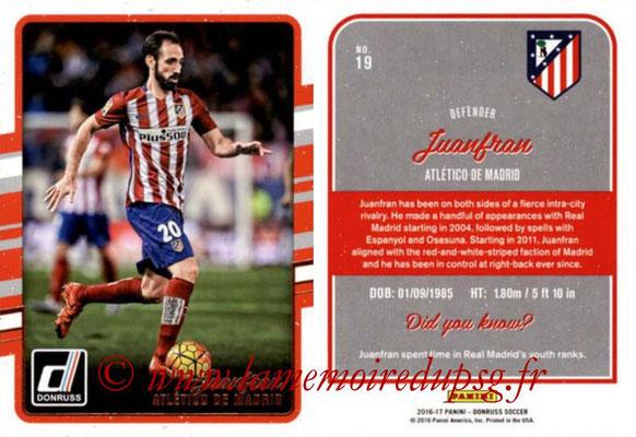 2016 - Panini Donruss Cards - N° 019 - JUANFRAN (Atlético de Madrid)
