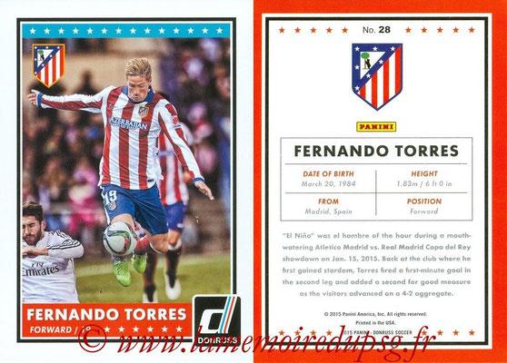 2015 - Panini Donruss Soccer - N° 028 - Fernando TORRES (Atletico Madrid)