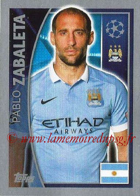 2015-16 - Topps UEFA Champions League Stickers - N° 250 - Pablo ZABALETA (Manchester City FC)