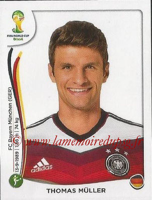 2014 - Panini FIFA World Cup Brazil Stickers - N° 505 - Thomas MULLER (Allemagne)