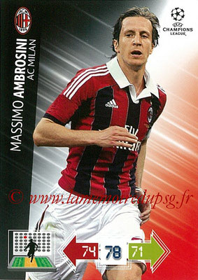 2012-13 - Adrenalyn XL champions League N° 155 - Massimo AMBROSINI (Milan AC)