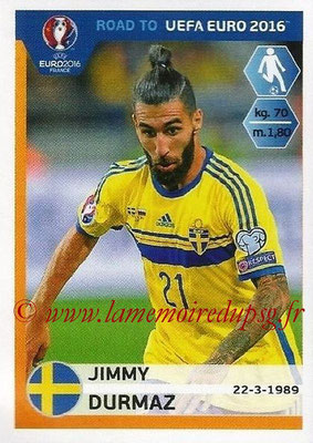 Panini Road to Euro 2016 Stickers - N° 349 - Jimmy DURMAZ (Suède)